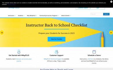 http://wileyplus.com screenshot