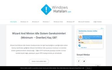windowshatalari.com screenshot