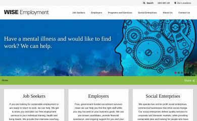 wiseemployment.com.au screenshot