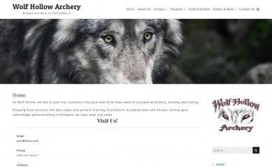 wolfhollowarchery.com screenshot