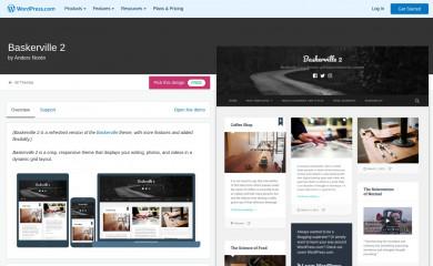 Baskerville 2 - WordPress.com screenshot
