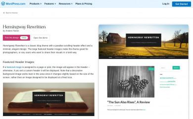 Hemingway Rewritten - WordPress.com screenshot