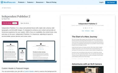 https://wordpress.com/themes/independent-publisher-2/ screenshot