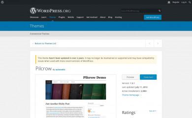 http://wordpress.org/extend/themes/pilcrow/ screenshot