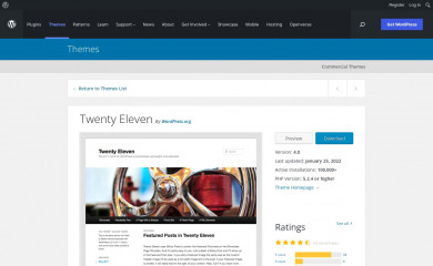 https://wordpress.org/themes/twentyeleven/ screenshot