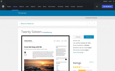 https://wordpress.org/themes/twentysixteen/ screenshot