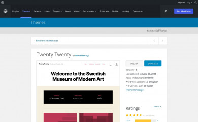 https://wordpress.org/themes/twentytwenty/ screenshot
