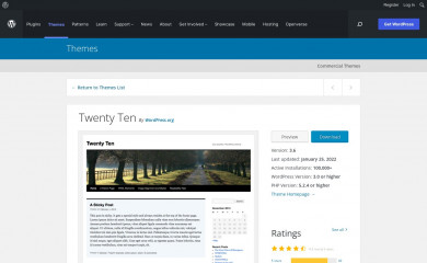 https://wordpress.org/themes/twentyten/ screenshot