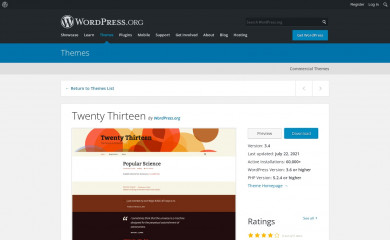 http://wordpress.org/themes/twentythirteen screenshot