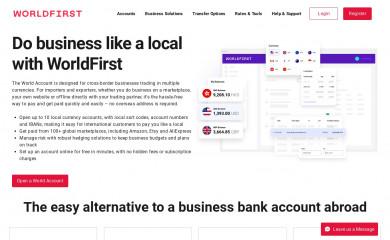 worldfirst.com screenshot
