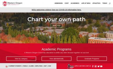wou.edu screenshot