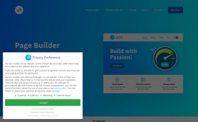 https://wp-pagebuilderframework.com screenshot