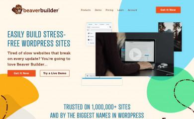 http://www.wpbeaverbuilder.com screenshot
