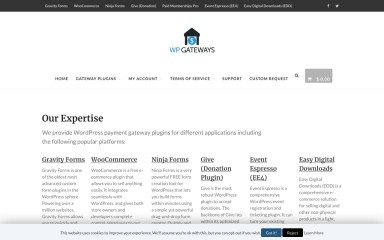 wpgateways.com screenshot
