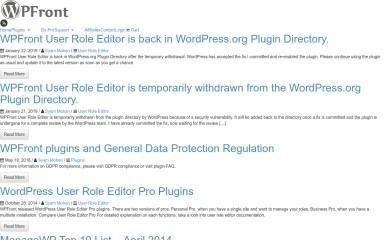 wpfront.com screenshot