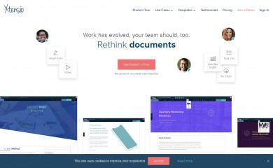 xtensio.com screenshot