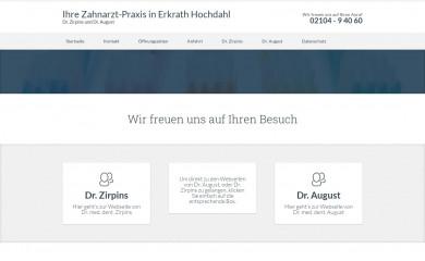 zahnarzt-hochdahl.de screenshot