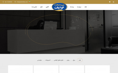 zarinmihan.com screenshot