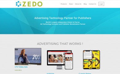 http://zedo.com screenshot