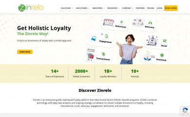 zinrelo.com screenshot