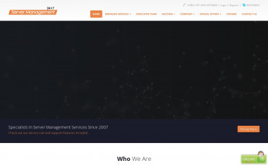 24x7servermanagement.com screenshot