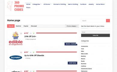 360promocodes.com screenshot
