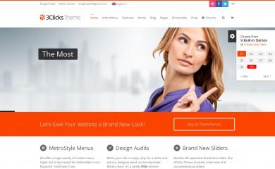 3clicks Theme screenshot