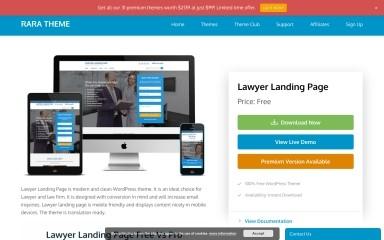 Lawyer Landing Page screenshot